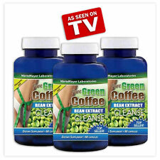 3 Bottles x Green Coffee Beans Cleanse Extract Weight Loss Slimming Supplement