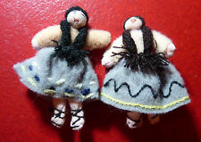 Hand Made Traditional Figures ! Miniature Worry Trouble  Dolls !