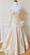 JAMES CLIFFORD Ivory Silk Strapless Wedding Gown Formal Dress Worn Once 12 - LN!