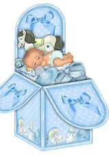 baby boy pop up box handmade card
