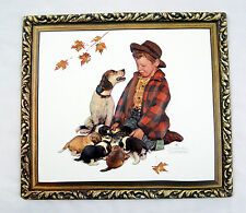 Vintage Norman Rockwell Pride of Parenthood Boy and His Dog Formcraft 3D Print