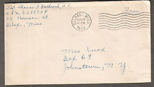 1943 WWII cover T/Sgt Thomas P Rothrock Biloxi MS Keesler Air Base