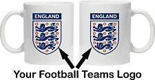 FOOTBALL MUGS - PERSONALISE with ANY TEAM LOGO, CREST, BADGE - ANY SPORT!