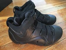 Nike Zoom Lebron IV 4 Black Anthracite Ds Size 8.5 Rare 314647-001