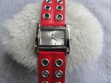 Dickies Quartz Ladies Watch with a Red Band