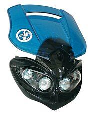 Tete de Fourche Plaque Phare bleu universel Moto enduro xp6 dr XP6 Derbi NEUF
