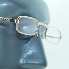 Folding Reading Glasses Petite Small Gold Frame Lightweight Lens Strength +2.50