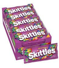 Skittles Wild Berry Candy 36 Single Purple Packs 2.17 oz Each Fresh