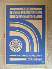 Grand Opera House Programme HOME and BEAUTY- White Rose Players