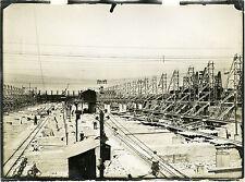 """""""CONSTRUCTION DE MÔLE (LE HAVRE années 20)"""" Photo originale"""