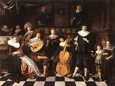 Molenaer Jan Miense Family Making Music A4 Print