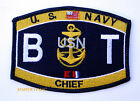US NAVY BT Boiler Technician CHIEF RATING HAT PATCH USS PIN UP USN ENLISTED E7