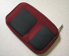 BD&A Essentials XL Zippered Neoprene Burgundy Pouch Red For 3DS 3E