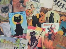 12 Pc. Set VINTAGE HALLOWEEN BLACK CATS DIE CUTS 4 CRAFTS | H59 | Black Cat