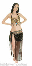 Tribal gypsy belly dance costume halter bra top & hip jupe nouveau uk