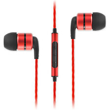 SoundMAGIC E80C In Ear Isolating Earphones with Mic - Red - NEW