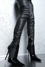 1969 crotch boots 13 cm Sexy schwarz black fetish pointy spitz high heels 43