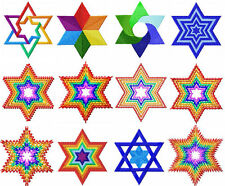 Star of David 12 Machine Embroidery Designs set 4x4