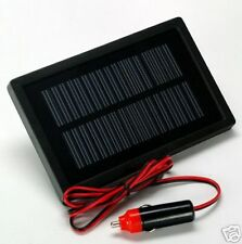 Solar Trickle Charger- Keep your 12-volt battery ready to go! w/Car Adapter