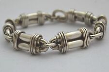 """Taxco Mexico Solid 925 Sterling Silver Heavy Chain Bracelet. 102g. 19.5 cm, 7.7"""""""