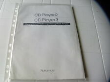 Nakamichi CD Player 2 / CD Player 3 Owner's Manual  Operating Instructions