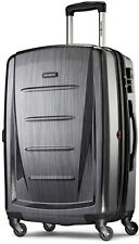 "Samsonite Winfield 2 Fashion 24"" Spinner 4 Wheeled Upright Luggage - Charcoal"