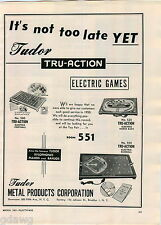 1951 ADVERT Tudor Tru Action Electric Games BaseballFootball Horse Race