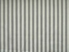 MARSONS TICKING STRIPE GREY CREAM STRIPEY CURTAIN SOFT FURNISHING FABRIC PER~M