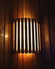 Saunaleuchte Set Saunalampe Holzblendschirm Espenholz Silikonkabel 3 Teile Set