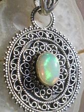 1Pendentif en Cristal d'Opale Arlequin Multicolore Naturelle 28 cts (Ethiopie)