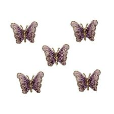 ID 2305 Lot of 5 Butterfly Insect Embroidered Iron On Applique Patch
