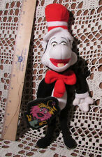 """Vintage 1997 The Cat In The Hat Finger-Puppet W GINK Stuffed Plush w Tag 11""""Tall"""