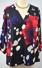 DIANE VON FURSTENBERG Colorfull pullover blouse Top Shirt silk top 4 VTG NEW DVF