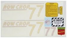 New Yellow Vinyl Cut Oliver Tractor Row Crop 77 Decal Set