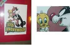 """NEW TWEETY & SYLVESTER LITHOGRAPHIC PRINT """"BIRDS ANONYMOUS"""" by Warn Bros."""