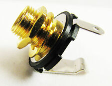 "3-pack of Beautiful GOLD-plated 1/4"" Mono Jacks for Guitars & More! 50-23-01"