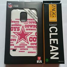 New Skinit NFL Dallas Cowboys Pink Blast Galaxy S5 Pro Case Cover + ZAGG Cleaner