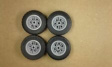 Lego Technic Large Wheels  & Tyres Set of 4 - 49.5mm x 20mm NEW