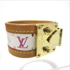 Authentic LOUIS VUITTON M92583 Bra Rubbed Cerule M Monogram Bangle leather