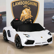 Lamborghini White Aventador Kids Ride On Battery Power Wheels Car with Remote