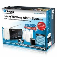 New Open Box Swann Wireless Home Alarm System Door And Motion Sensors  SW347-WA2