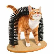 Playtime Cat Arch Bristles Kittens Play Self Groomer Massager Scratcher Catnip