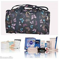 Pre-packed Essentials hospital/maternity bag, navy butterfly NEXT DAY DELIVERY