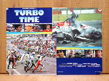 TURBO TIME fotobusta poster Auto Moto Race Cars Motorcycle Racing Driver Smash