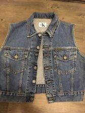 CALVIN KLEIN 80's Vintage Denim Vest. À la Brooke Shields Day! Medium. Ladies