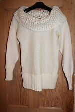 Women Victoria Secret Ivory Mohair mix Sweater Size M