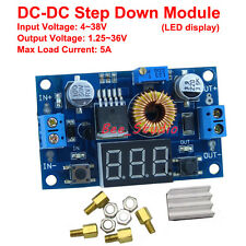 LED Display 5A DC Step down Adjustable Voltage Regulator Module 3.3V 5V 12V 24v