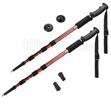 Adjustable Pair Hiking Poles Stick Walking Trekking Light Aluminum Backpack Gear