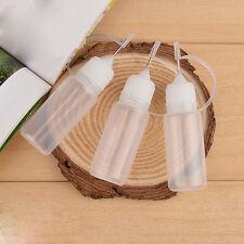 10pcs 10ml Needle Tips Empty Plastic Squeezable Liquid Dropper Filling Bottles.