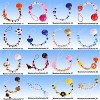 Schnullerkette mit Namen individuell UNIKAT NEU frei Auswahl Myschnullerkette 1
